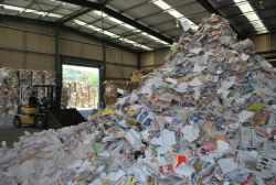 Pile of recyclable paper material