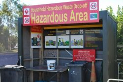 Hazardous waste drop off station at Timaru's Redruth facility.