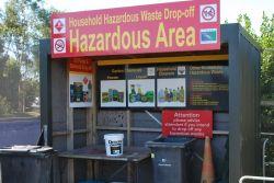 Hazardous waste drop off station at Timaru's Redruth facility.