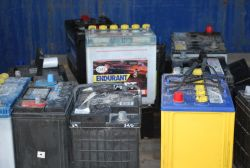Batteries ready for safe disposal.