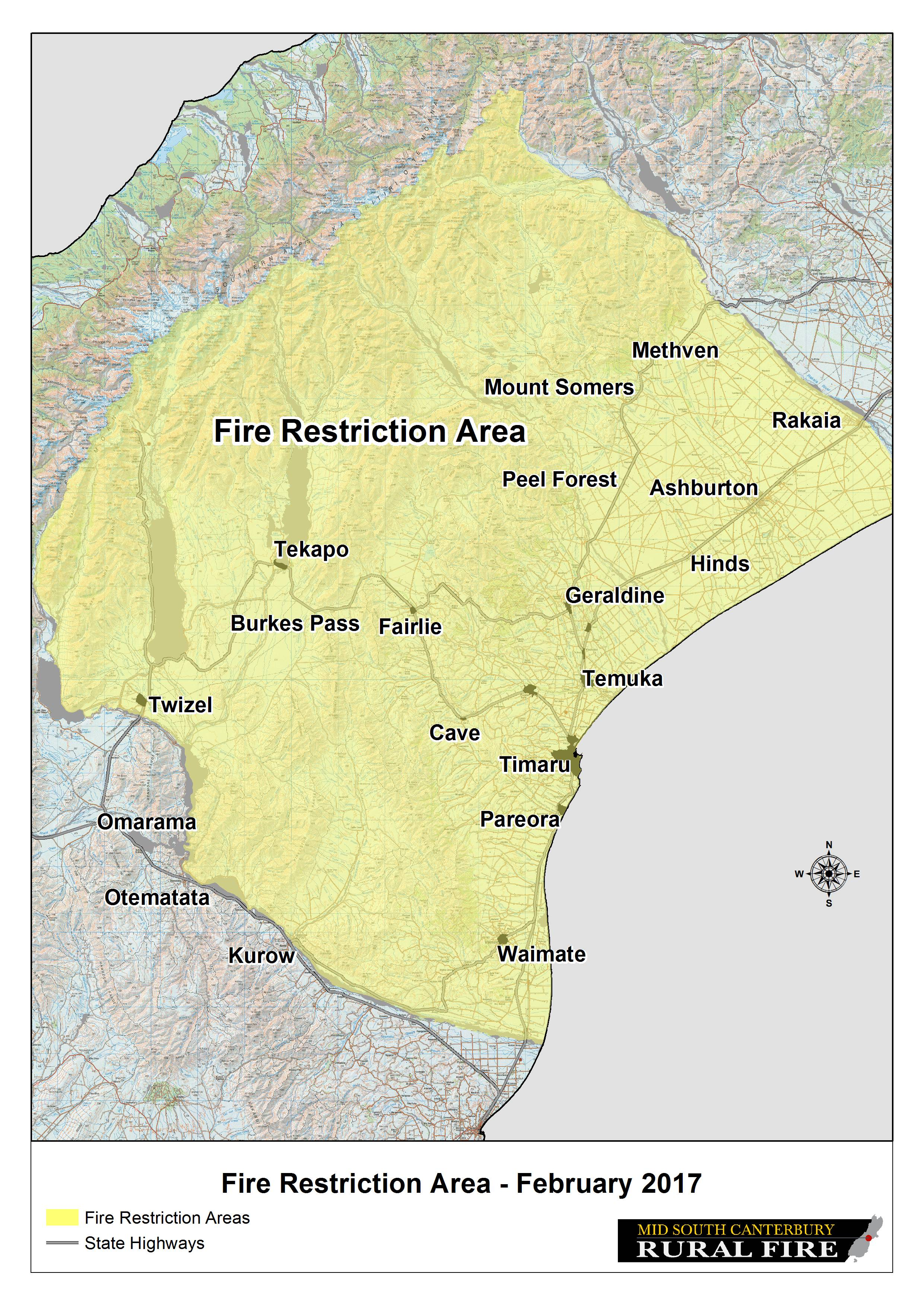 Fire Restriction Map 28 February 2017