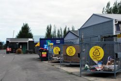 Recycling bins at Temuka.
